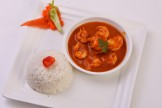SHRIMPS IN COCONUT CURRY