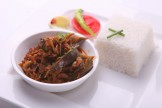 DRY SHRIMP WITH BRINJAL