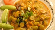 Tindora and channa masala