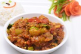 BURNT BRINJAL BOTTLE GOURD & TOMATO BARTHA
