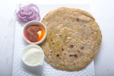 Methi Kura Carrot Paratha