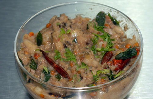 Brinjal And Cucumber Chutney